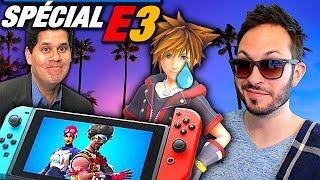 Polémique Fortnite, Nintendo s'explique sur son E3, Kingdom Hearts 3 pas de VF...