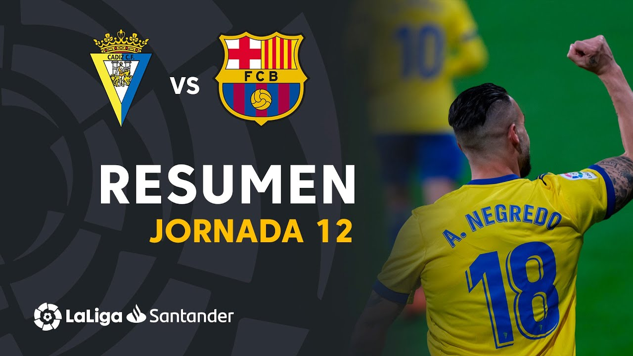 Resumen de Cádiz CF vs FC Barcelona (2-1) - YouTube