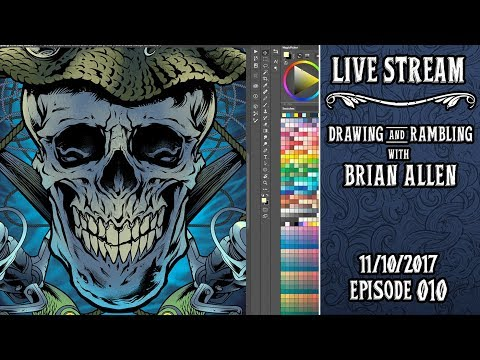 Drawing and answering questions LIVE in Clip Studio Paint with Freelance Artist Brian Allen