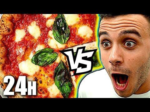 MANGIO PER 24 ORE SOLO PIZZA!!!