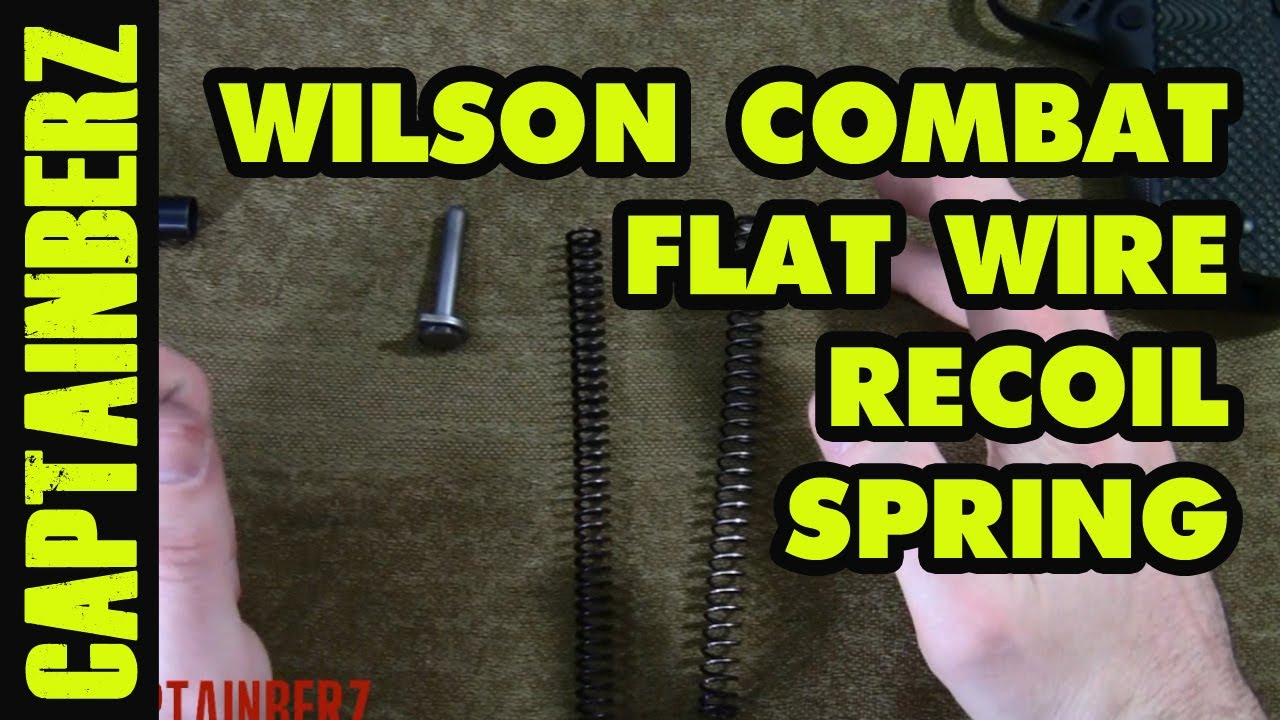Wilson Combat 1911 Flat Wire Recoil Spring - YouTube