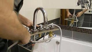 Установка горизонтального смесителя для ванной SYMETRIC 345 510 00 ч 2