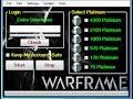 Warframe hack Generator 2016 Xbox, ps4, PC Platinum Generator
