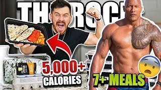 I Ate Like Dwayne THE ROCK Johnson For 24 Hours!! **IMPOSSIBLE EATING DIET CHALLENGE **