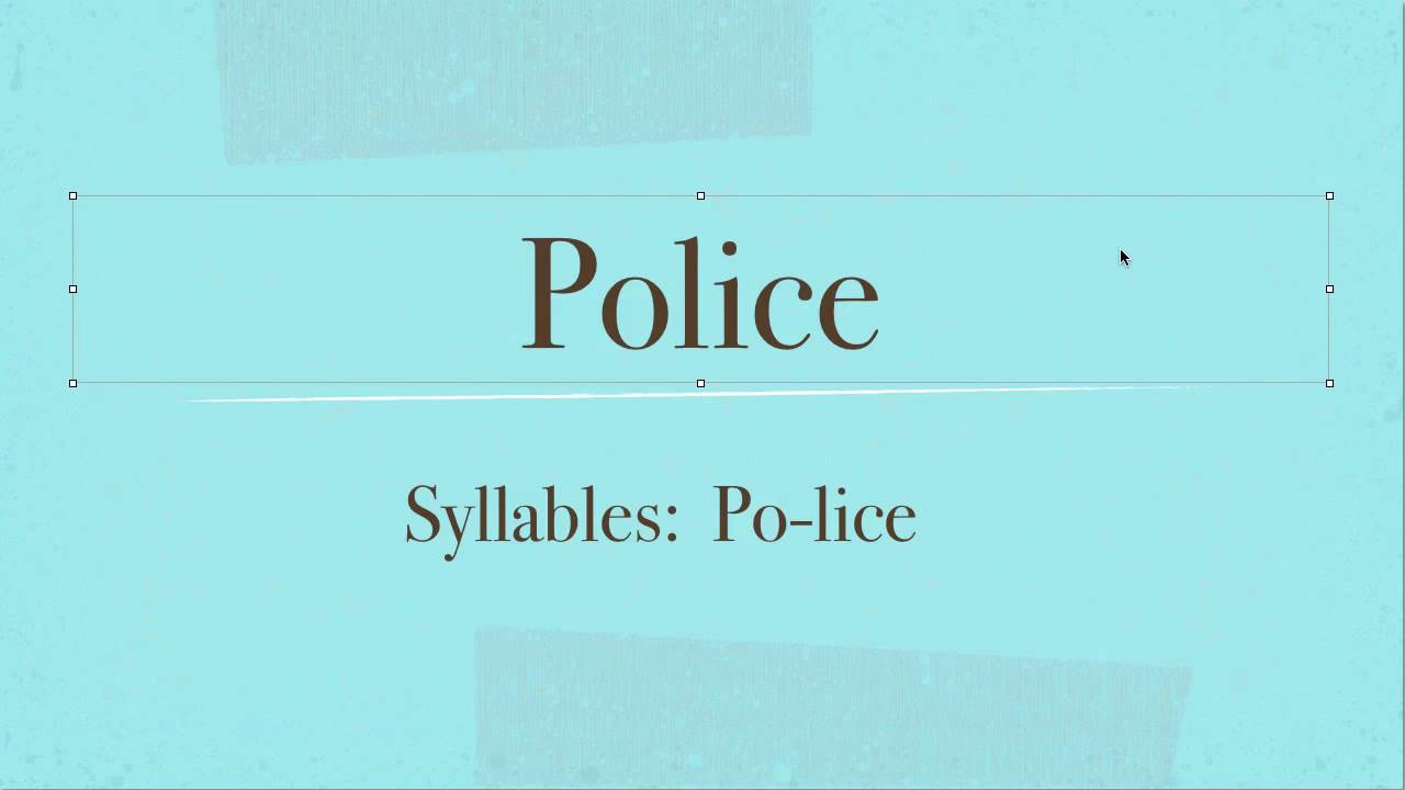 Police How To Pronounce Police In English