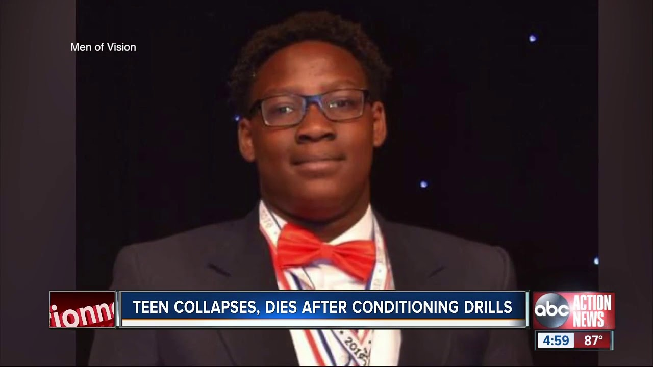 Tampa teenager collapses, dies on football field during drills, police say