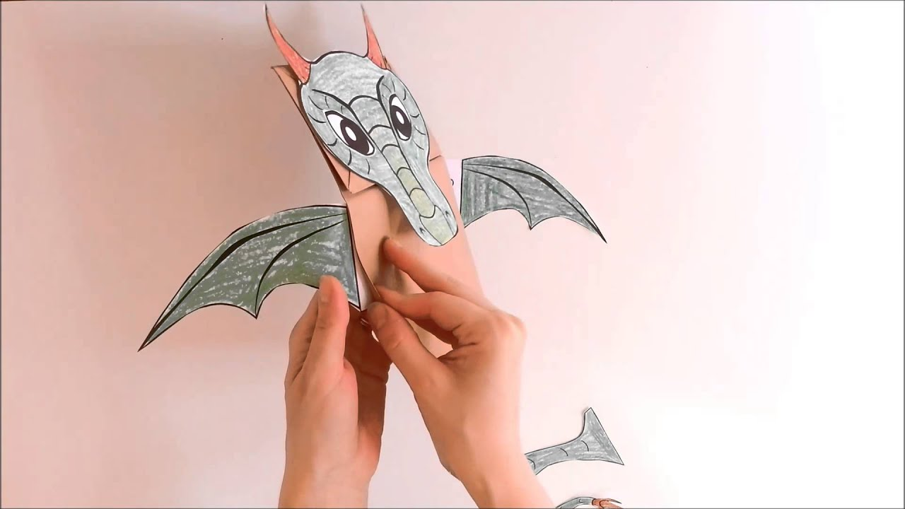How To Make A Dragon Paper Bag Puppet