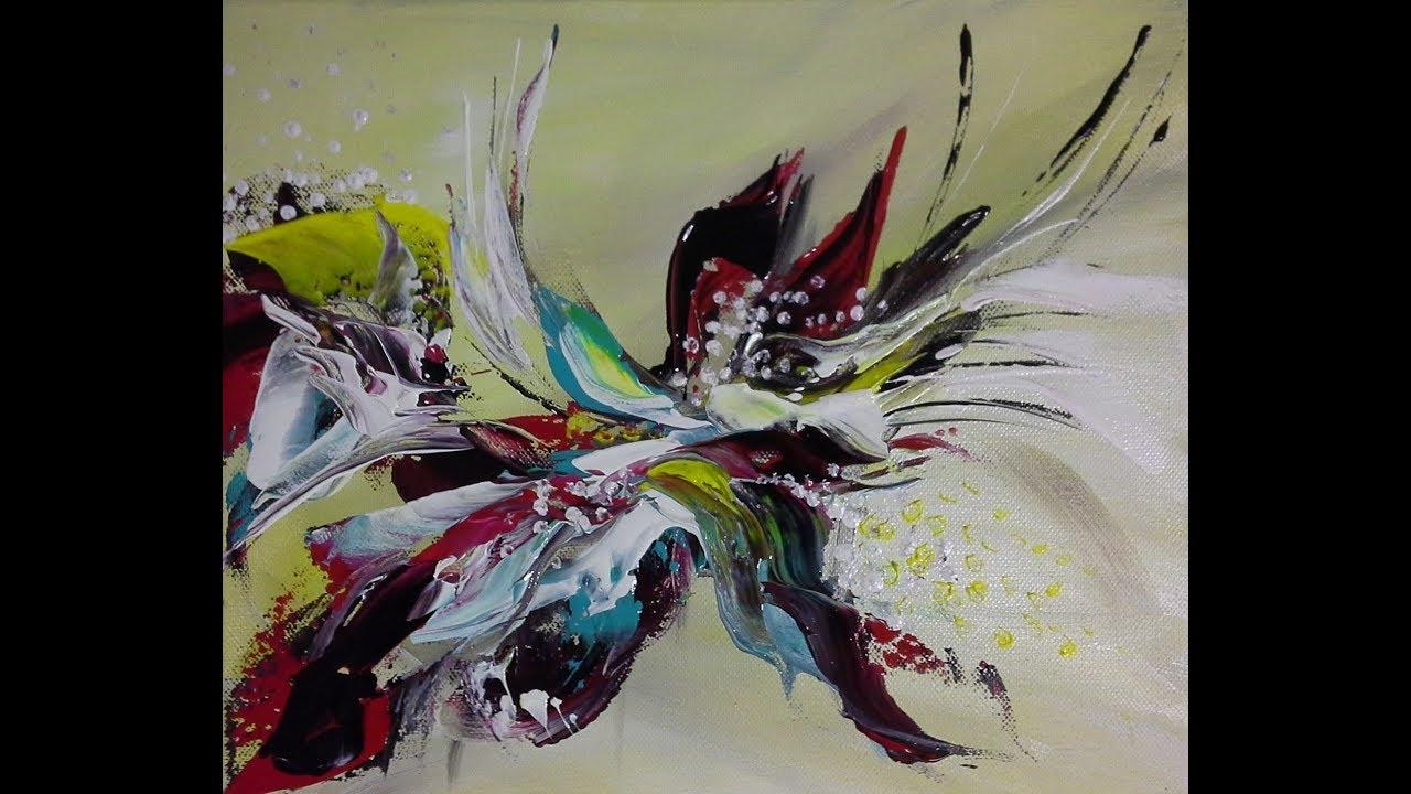 4 Schritte Abstraktes Bild Für Anfänger 4 Steps Abstract Painting For Beginners V106