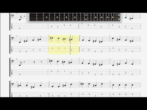 Beatles The   All my loving BASS GUITAR TABLATURE