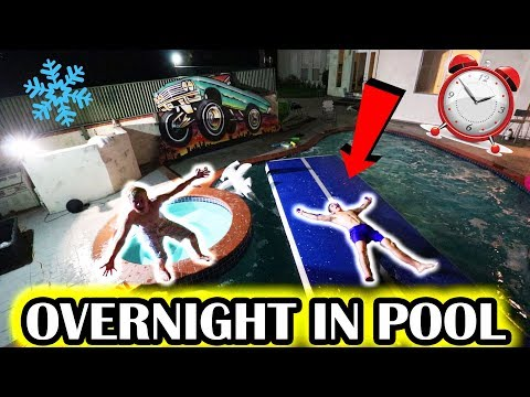 24 HOUR OVERNIGHT IN OUR POOL (Freezing)