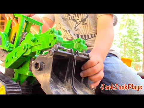 Construction Trucks for Kids - JackJackPlays Tahoe Vacation 3 - Excavators, Loaders, Bulldozer