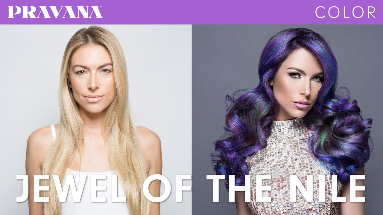 How To Purple Hair Jewel Technique With Pravana Vivids Jewels
