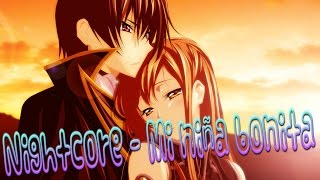 Nightcore  Mi niña bonita Lyrics