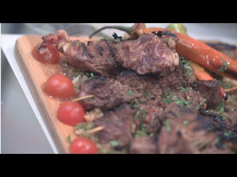 طريقة عمل الكباب المصري بشكل مختلف مع سلطه الفتوش والرز باللبن بطريقة مبتكرة  المطعم PNC FOOD