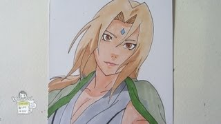 How to draw Tsunade 綱手