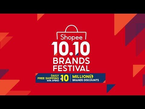 Shopee 10 10 Brands Festival 1 Youtube