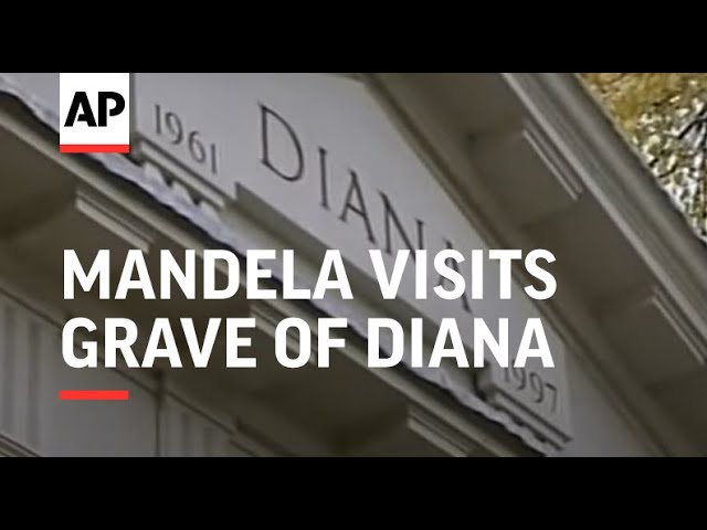 Former President Visits Grave Of Diana Youtube