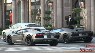 One Day of Supercars in Beverly Hillls:  Laferrari, P1, Bugatti Veyron, Lamborghini Aventador