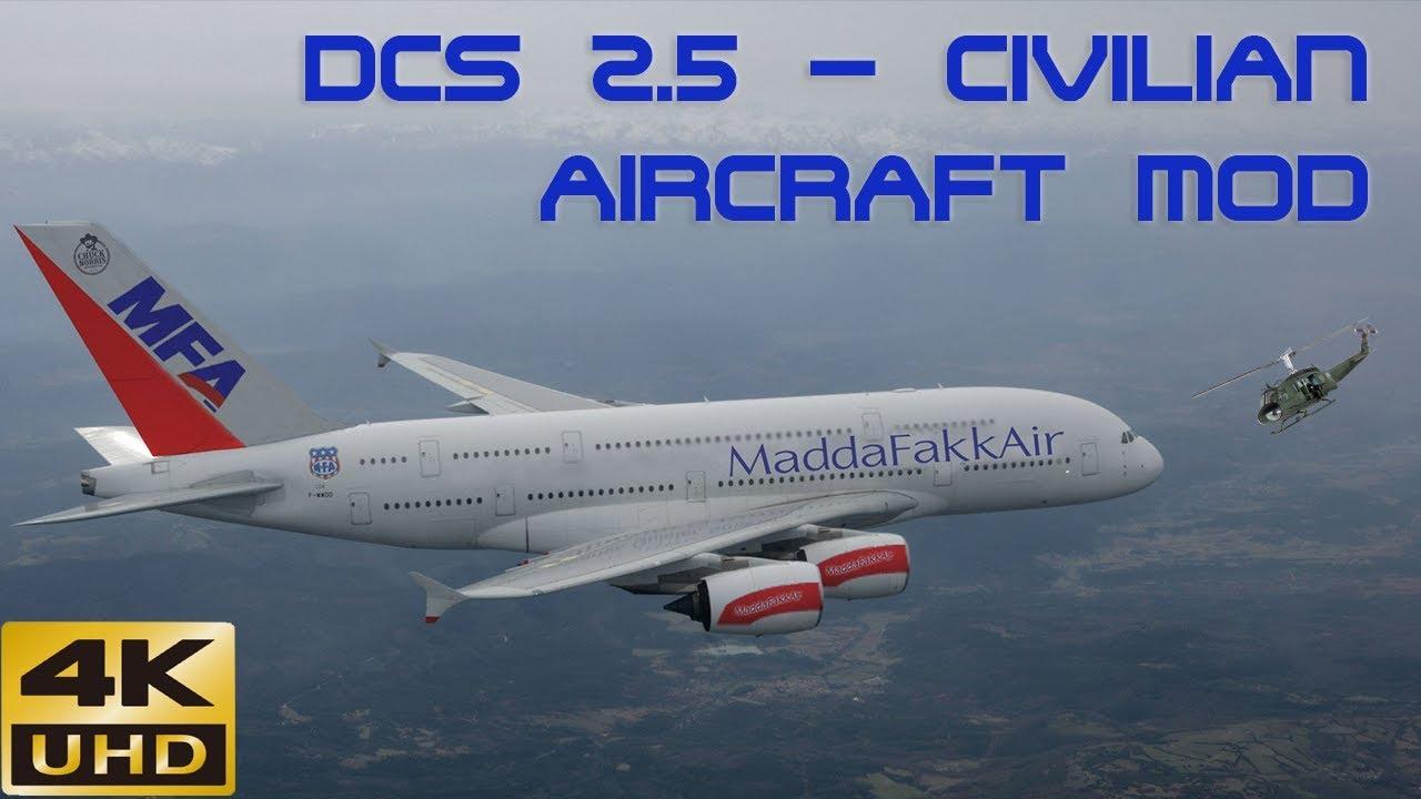 DCS World 2 5 Persian Gulf Civilian Aircraft Mod Showcase in a Huey
