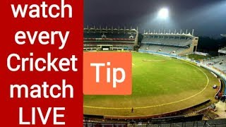How to watch live Cricket match | live streaming tip screenshot 1
