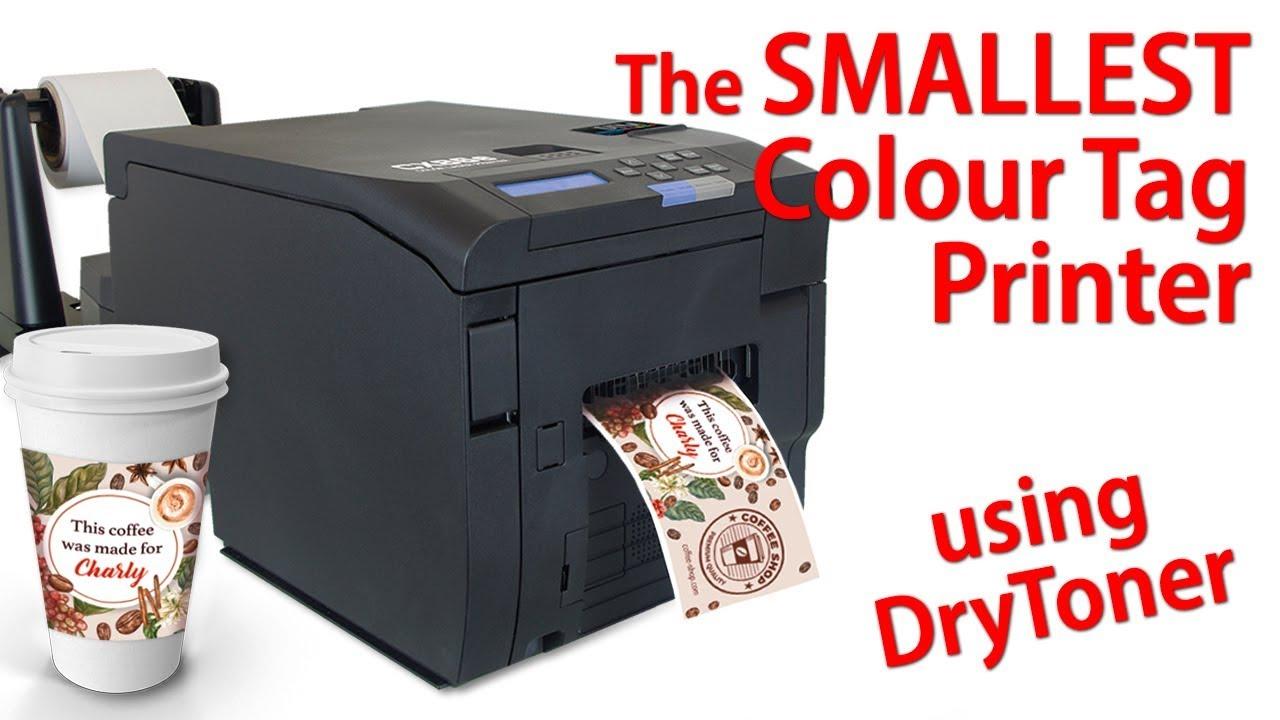 the SMALLEST LED DRY TONER Printer - DTM CX86e Colour Tag Printer