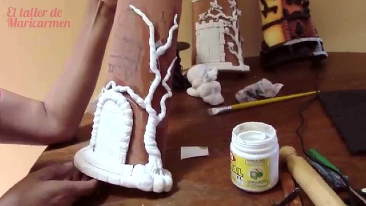 Teja decorada paso 3 piso puerta y arbolito en - Unas modelos para pintar ...