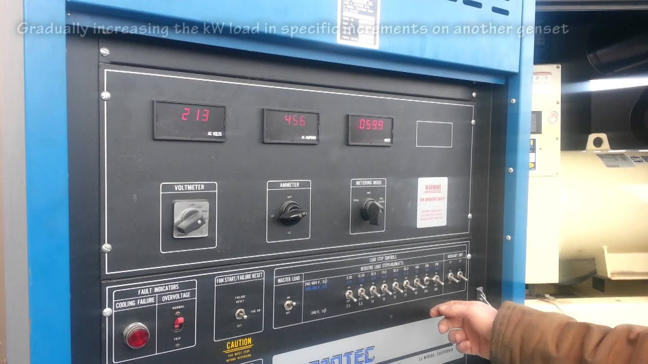 Diy Resistive Load Bank Load Bank Testing Generators Commercial Generator Sets