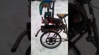Велосипед с пилой дружба