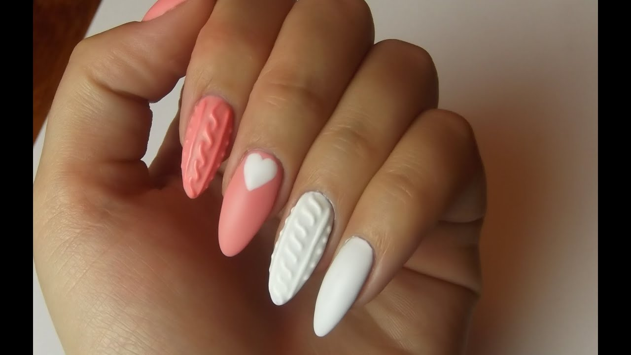 Knitted Nails Sweterkowy Manicure Semilac Youtube