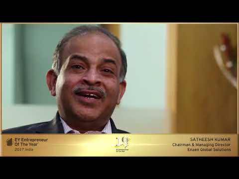 'Services' Category Award Winner: Satheesh Kumar, Chairman and MD, Enzen Global Solutions