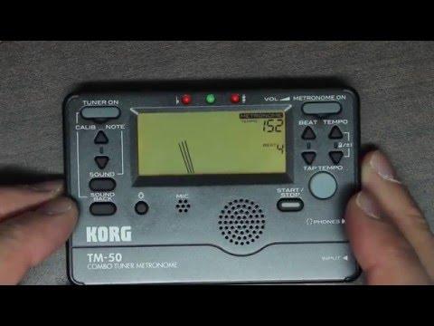 Korg TM-50 Combo Tuner Metronome Review/Tutorial