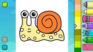 Snail - Colouring for Kids with Music and Effects