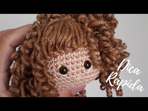 Como fazer diferentes tipos de cabelos de crochê | Amigurumi ... | 360x480