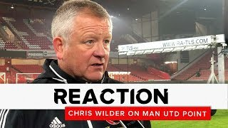 Chris Wilder | Sheffield United v Manchester United | Reaction interview