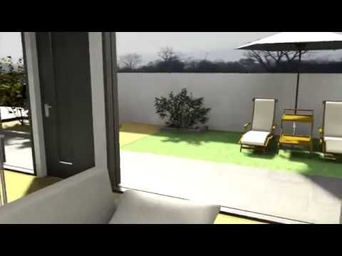 Architecture et d coration d 39 interieur visite 3d salon et cuisine mondrian youtube - Salon d interieur ...