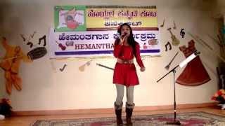 Shreya sings : Preethse Antha Prana Tinno