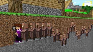 ПОЧЕМУ ЖИТЕЛИ СБЕГАЮТ ИЗ ДЕРЕВНИ ЖИТЕЛЕЙ В МАЙНКРАФТ 100 троллинг ловушка Minecraft