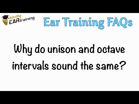 Why do unison and octave intervals sound the same?