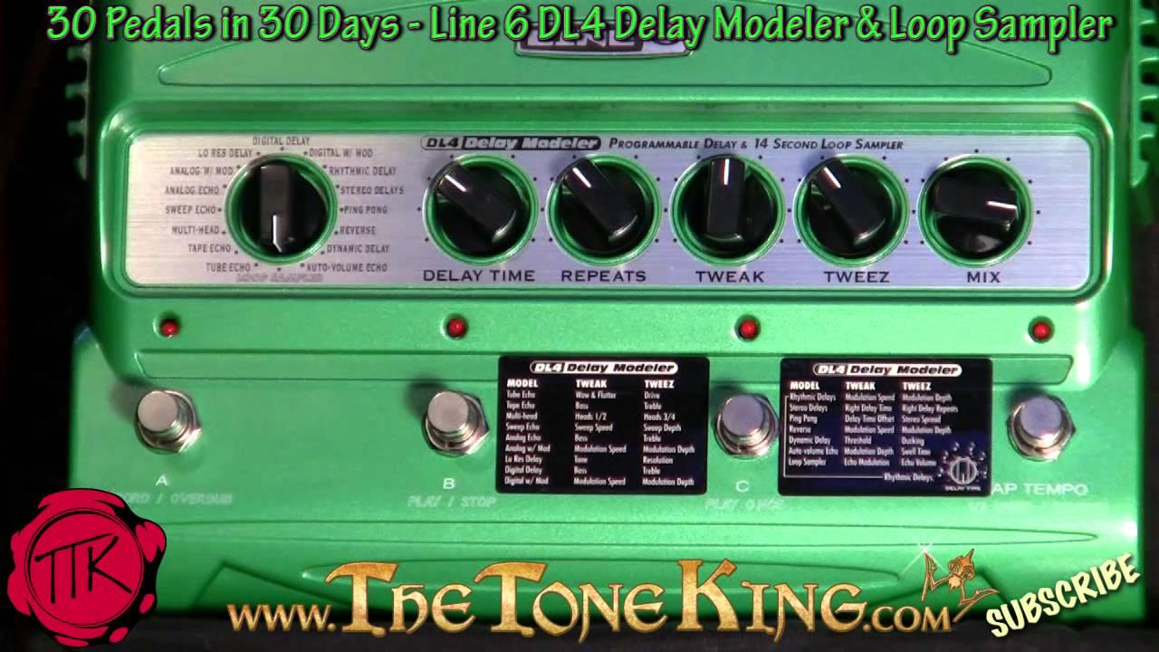 line 6 dl4 delay modeler loop sampler pedal 30 pedals in 30 days rh youtube com line 6 dl4 manual español line 6 dl4 manuale italiano