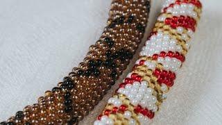 Мозаичное плетение.  Жгуты по схемам