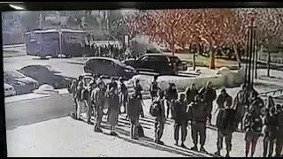Street cam catches the moment of the impact of Armon HaNatziv attack