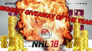 BIGGEST NHL GIVEAWAY THIS YEAR EP.1 - NHL 18