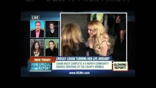 Alan Duke on HLN's Special Report  - Topic: Lindsay Lohan