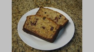 Greek Yogurt Banana Cranberry Bread -- Lynn's Recipes