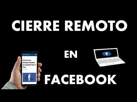¿Cómo Cerrar Sesiones Remotas de Facebook?