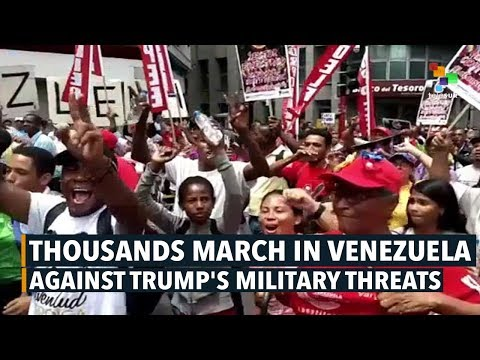 Thousands March in Venezuela Against Trump's Military Threats