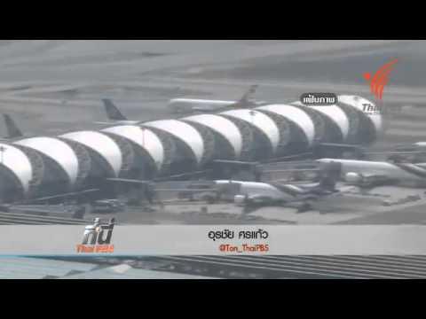ที่นี่ Thai PBS   นกบินชนแอร์เอเซีย (10 มิ ย 57)