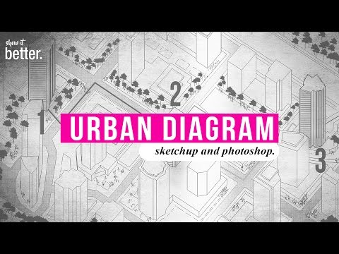 How to : Very Fast Urban Diagram in Sketchup and Photoshop
