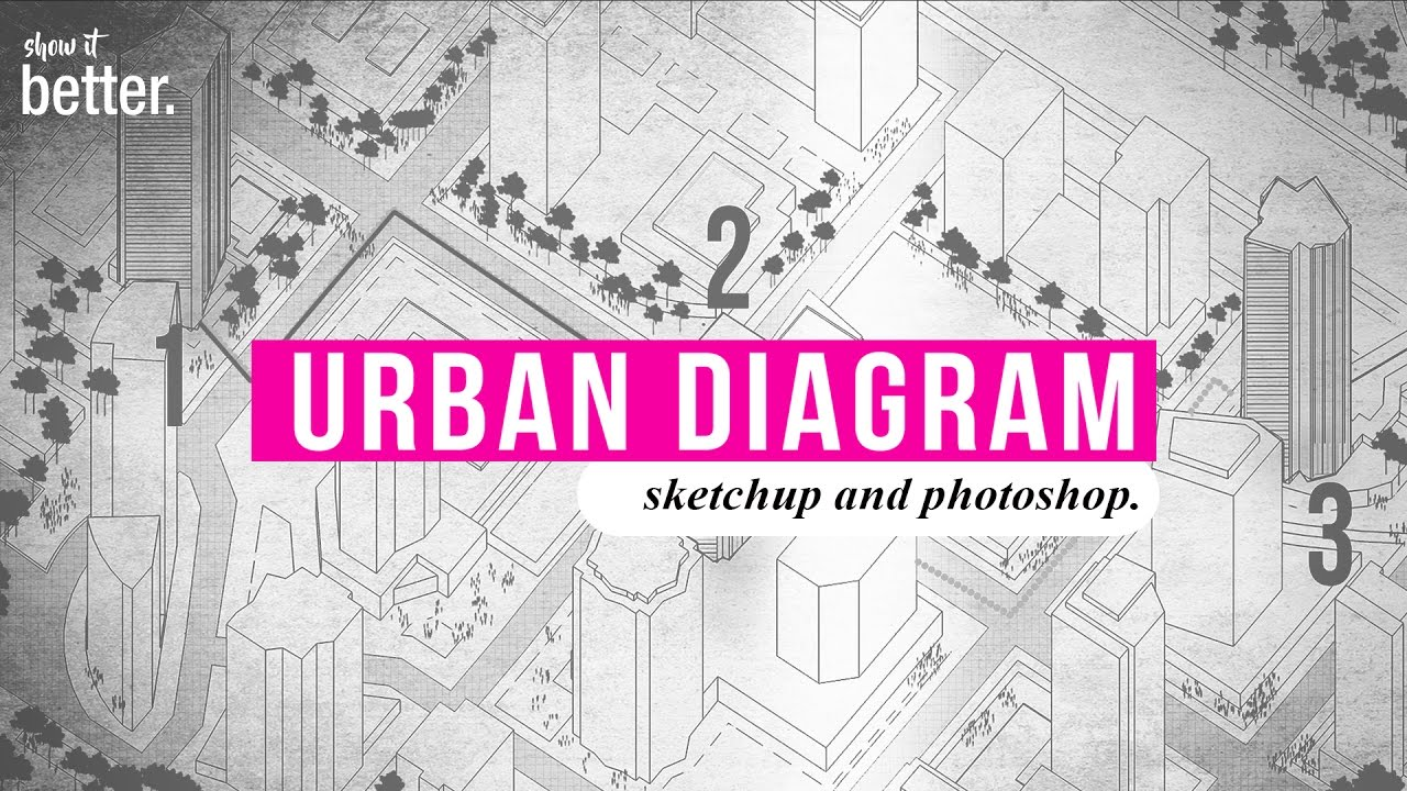 How to : Very Fast Urban Diagram in Sketchup and Photoshop