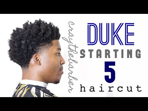 Duke Starting 5 Haircut: Bald Taper with Curls